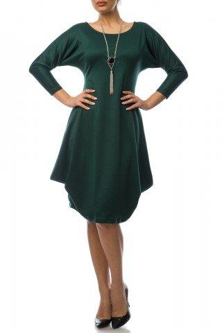 Rochie verde din jerse
