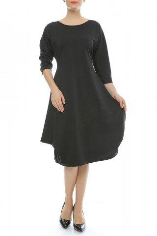 Rochie de zi din jerse negru