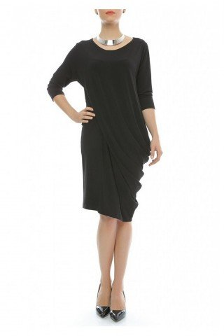 Rochie neagra eleganta din jerse fin