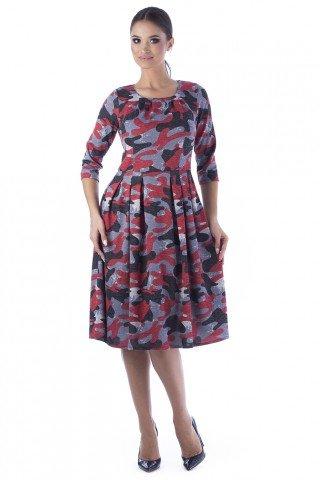Rochie cu pense cu imprimeu multicolor