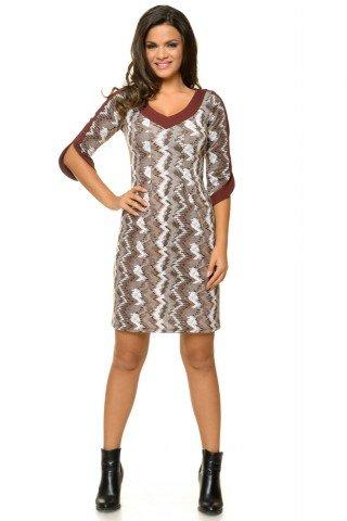 Rochie maro casual tricotata