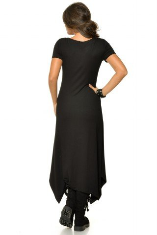 Rochie neagra casual Natalee