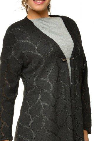 Cardigan negru elegant Natalee tricotat