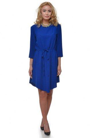 Rochie albastra cu snur
