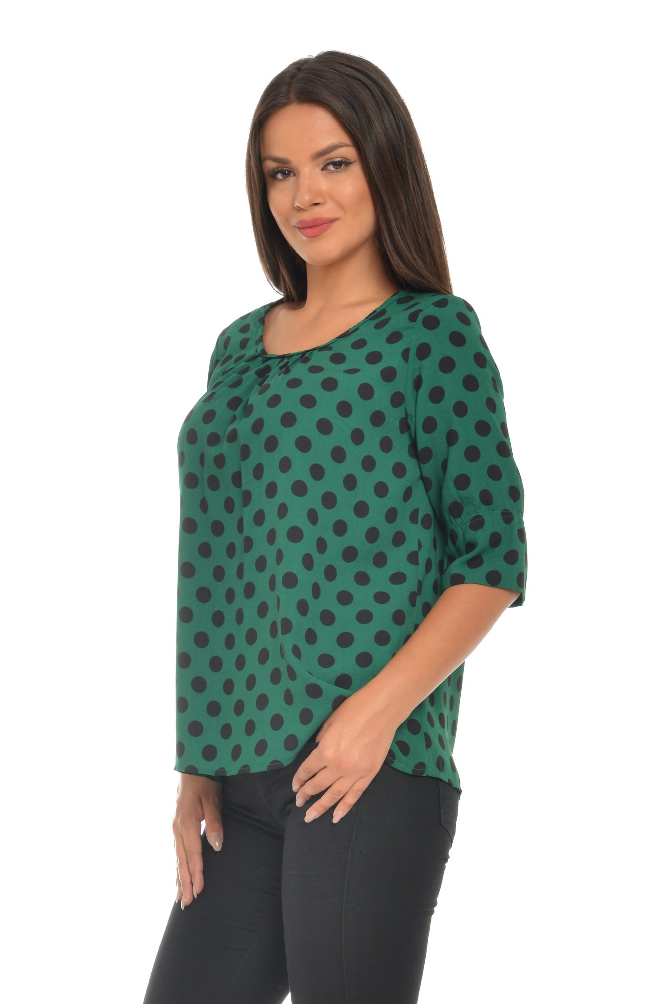 Bluza verde vascoza buline imprimate