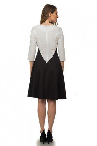 Rochie in clos negru cu alb