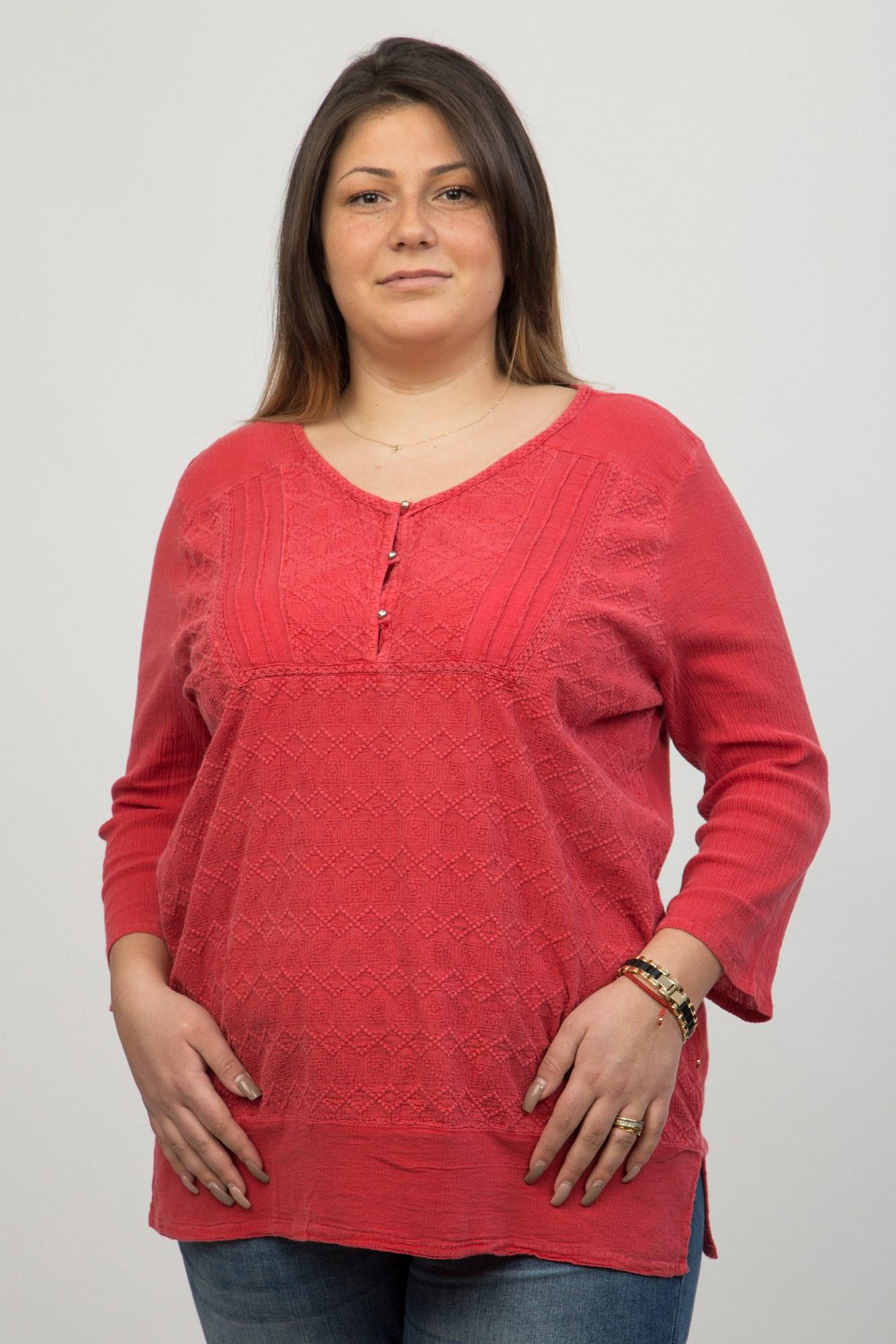 Bluza rosie Bandolino brodata