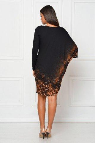Rochie de zi neagra cu umar cazut CBM1044