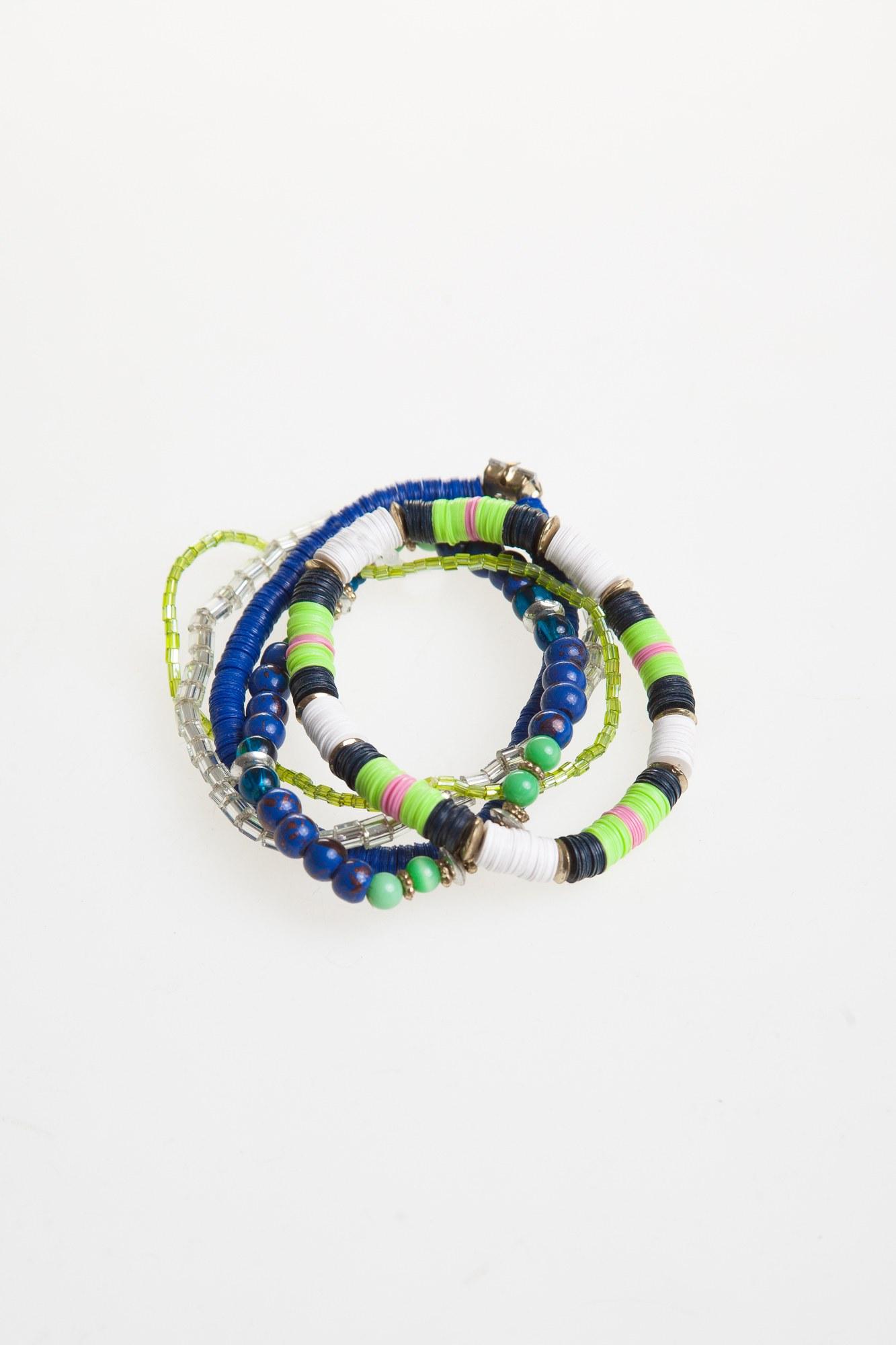 Bratara verde-albastru
