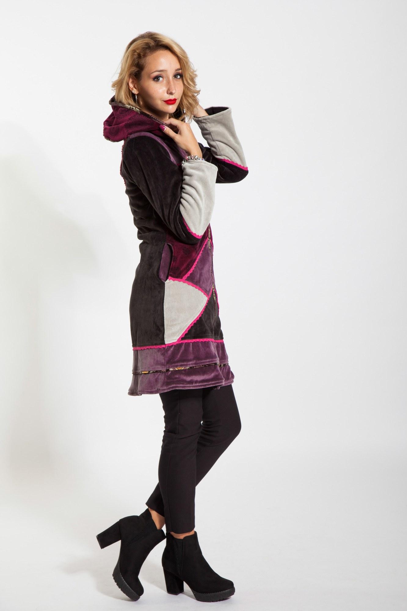 Jacheta visinie Myrea din catifea