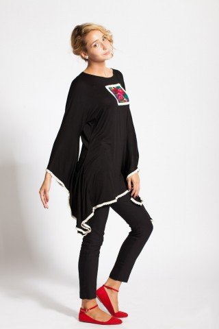 Bluza neagra HHS fluture