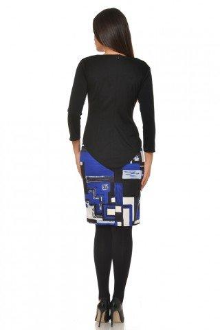Rochie midi conica cu imprimeu geometric
