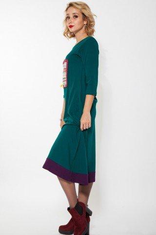 Rochie verde lunga Giuseppa aplicatii