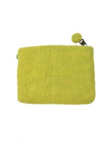 Portofel verde din fetru cu bile