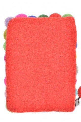 Portofel rosu din fetru cu bile