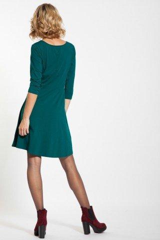 Rochie verde casual Granci cu aplicatie