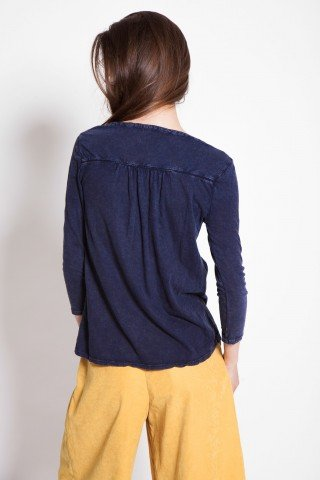 Bluza bleumarin Be You cu broderie sparta