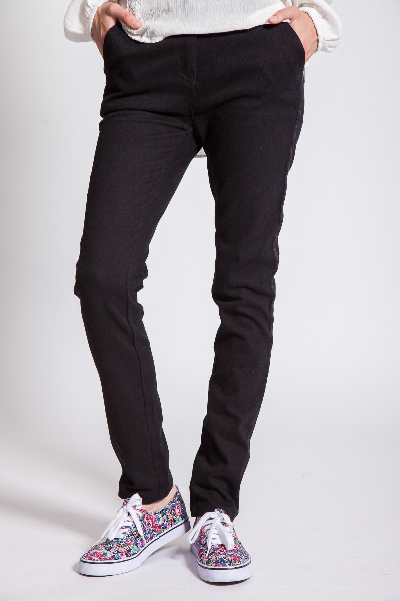 Pantaloni negri lungi Trouser