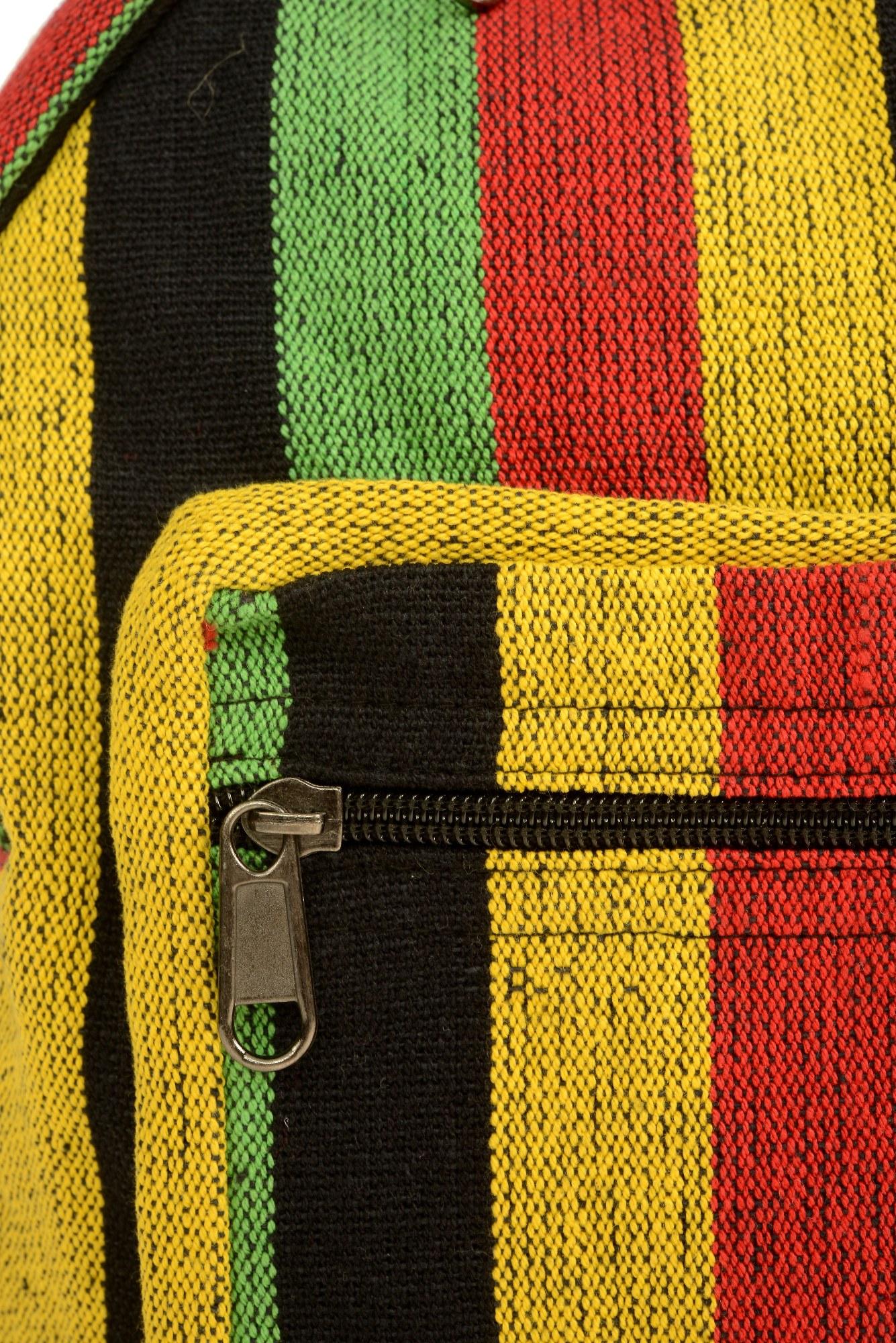 Rucsac din bumbac gros galben-negru mini - Rasta
