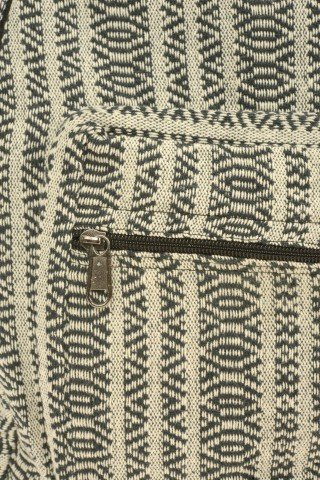 Rucsac din bumbac gros alb-negru