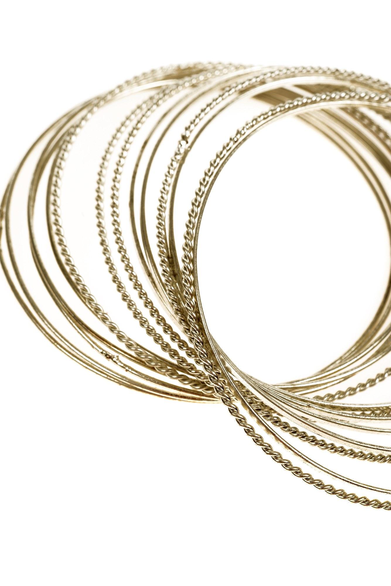 Set bratari metalice argintiu antichizat