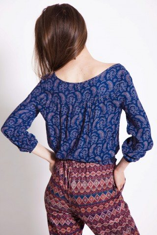 Bluza casual bleumarin Didi cu anchior
