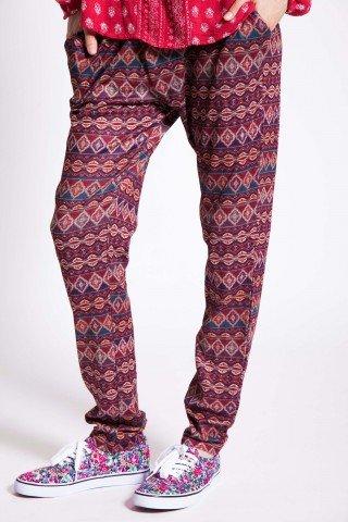 Pantaloni casual visinii lungi