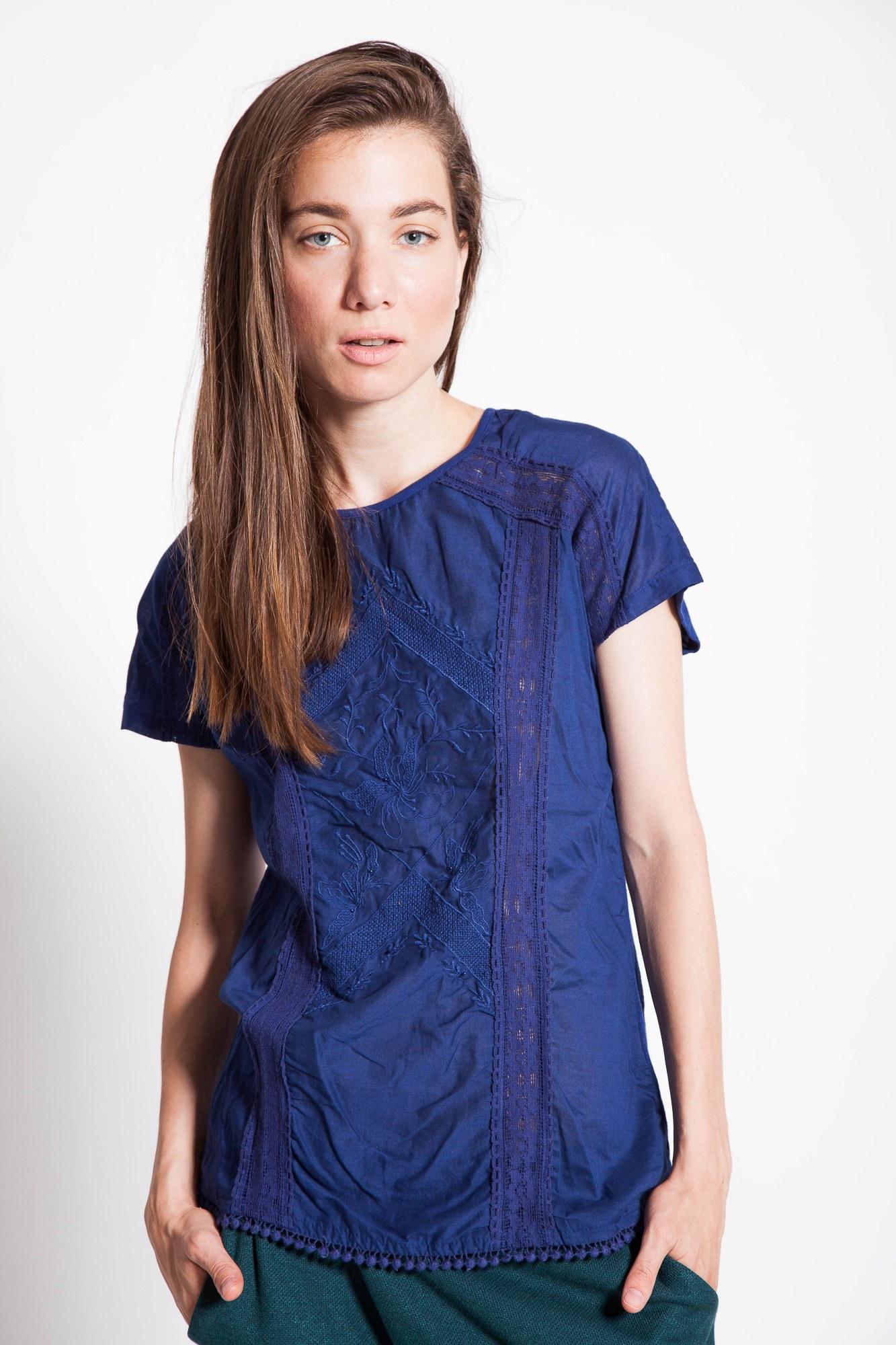 Bluza casual bleumarin Despina