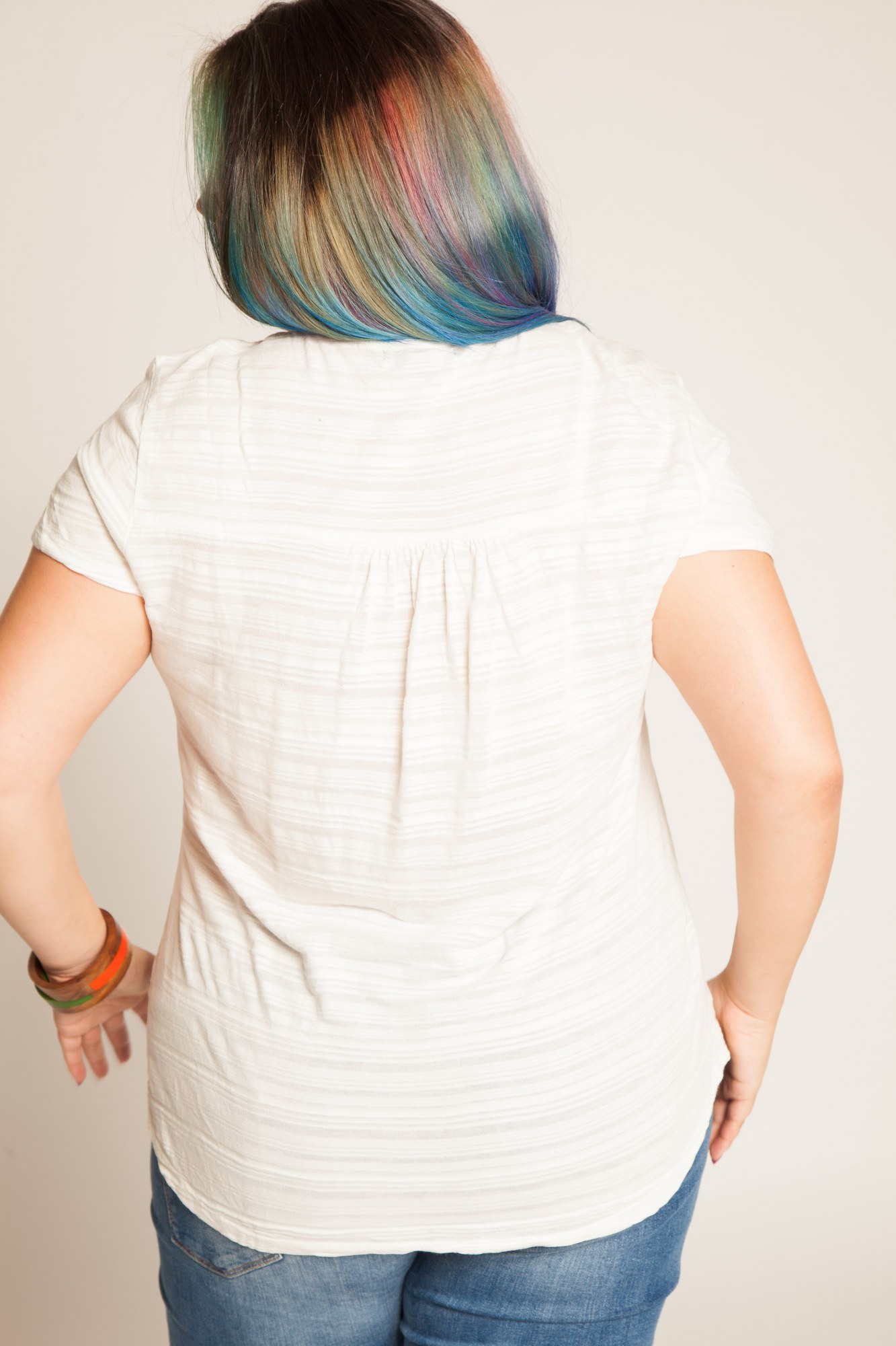 Bluza alba bumbac Miriam brodata