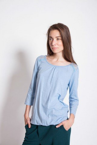 Bluza casual Blue-Ciel bumbac