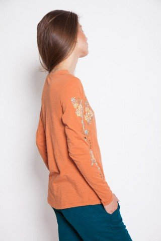 Bluza casual orange brodata Mary