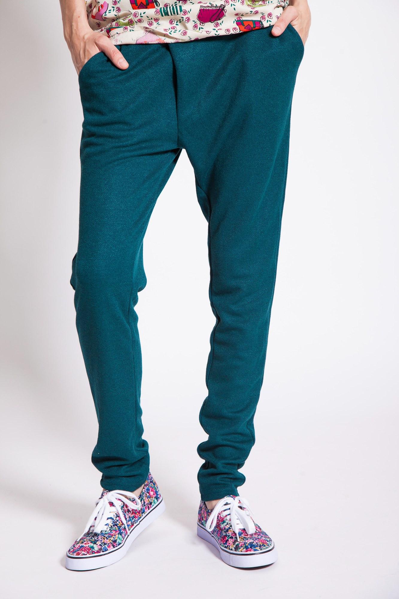 Pantaloni casual verzi Panacea