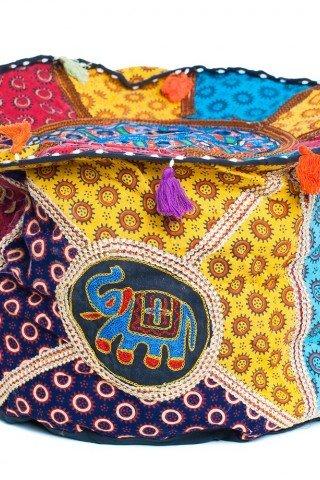 Husa taburet multicolora brodata