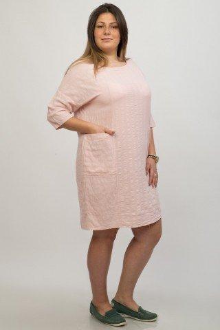 Rochie roz pal casual Sydney buzunare aplicate