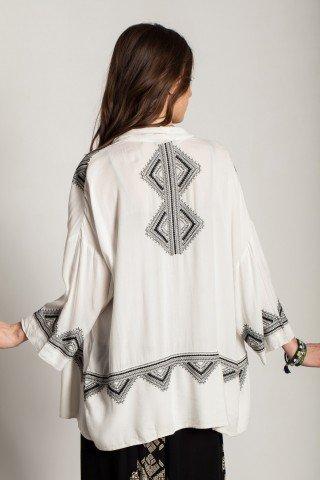 Kimono alb vascoza brodat
