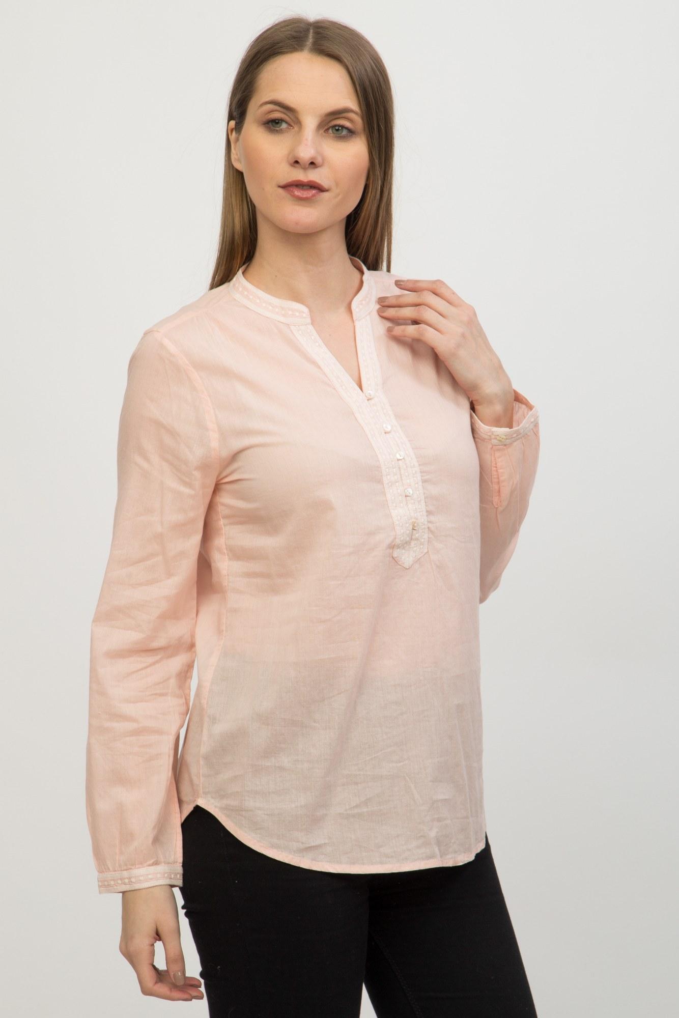 Bluza roz pal Alaia cu broderie
