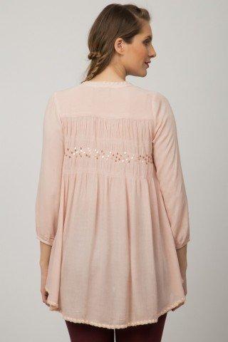 Bluza roz pal casual  Arisha cu paiete