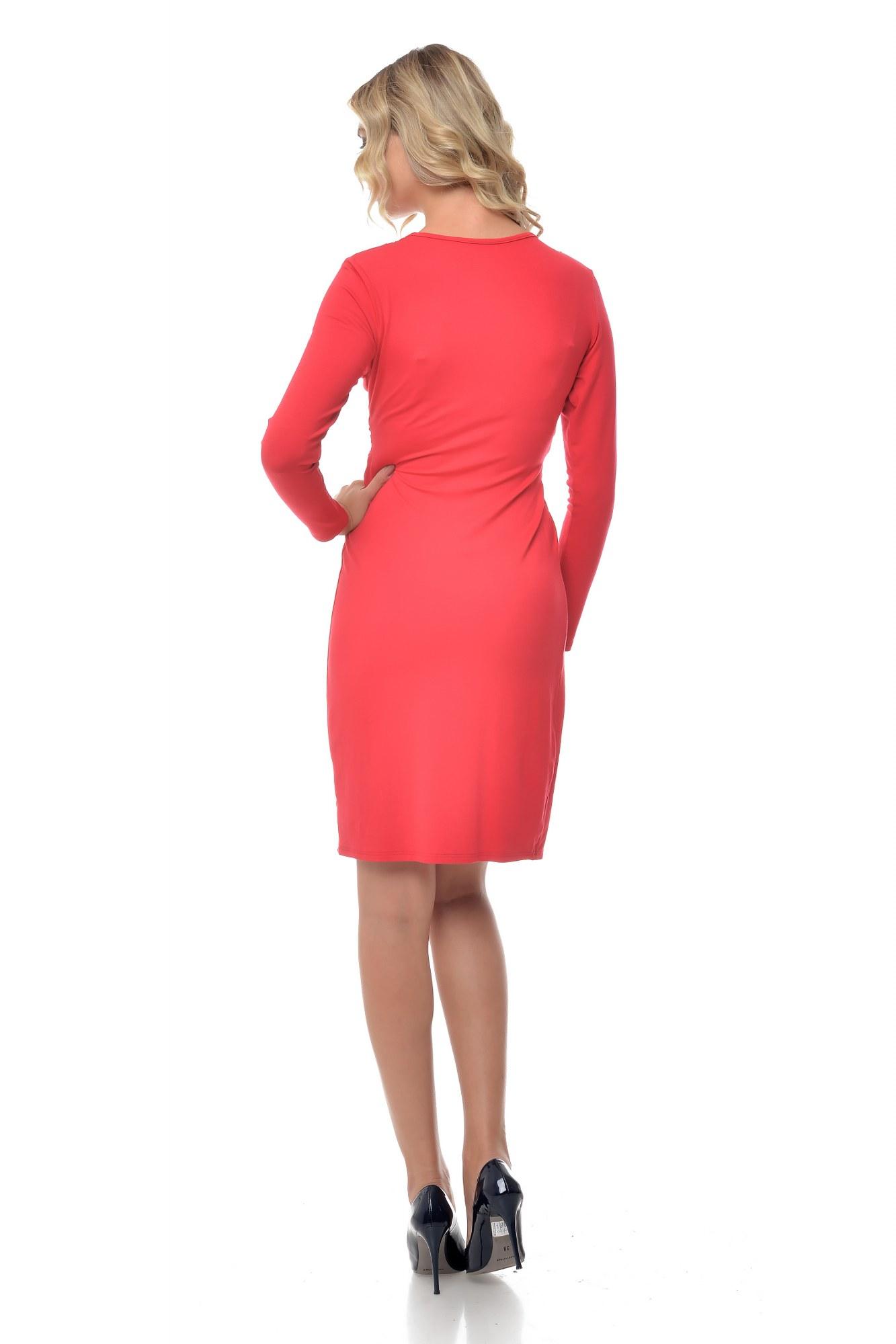 Rochie rosie cu anchior eleganta