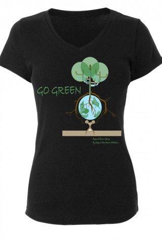 Tricou dama GO GREEN