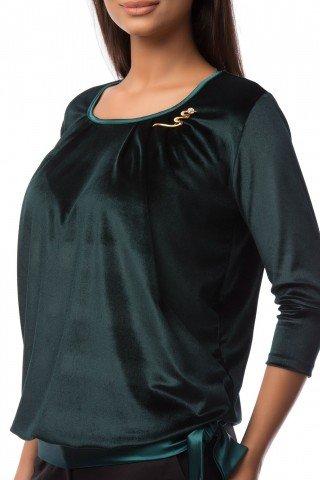 Bluza verde din catifea