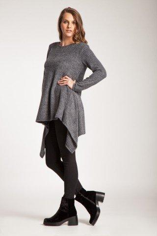 Tunica gri otel Aimee asimetrica