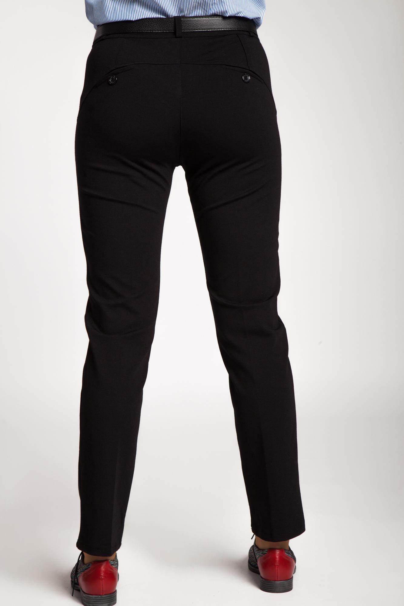 Pantaloni negri cu stretch tip office