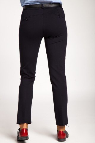 Pantaloni bleumarin cu stretch tip office
