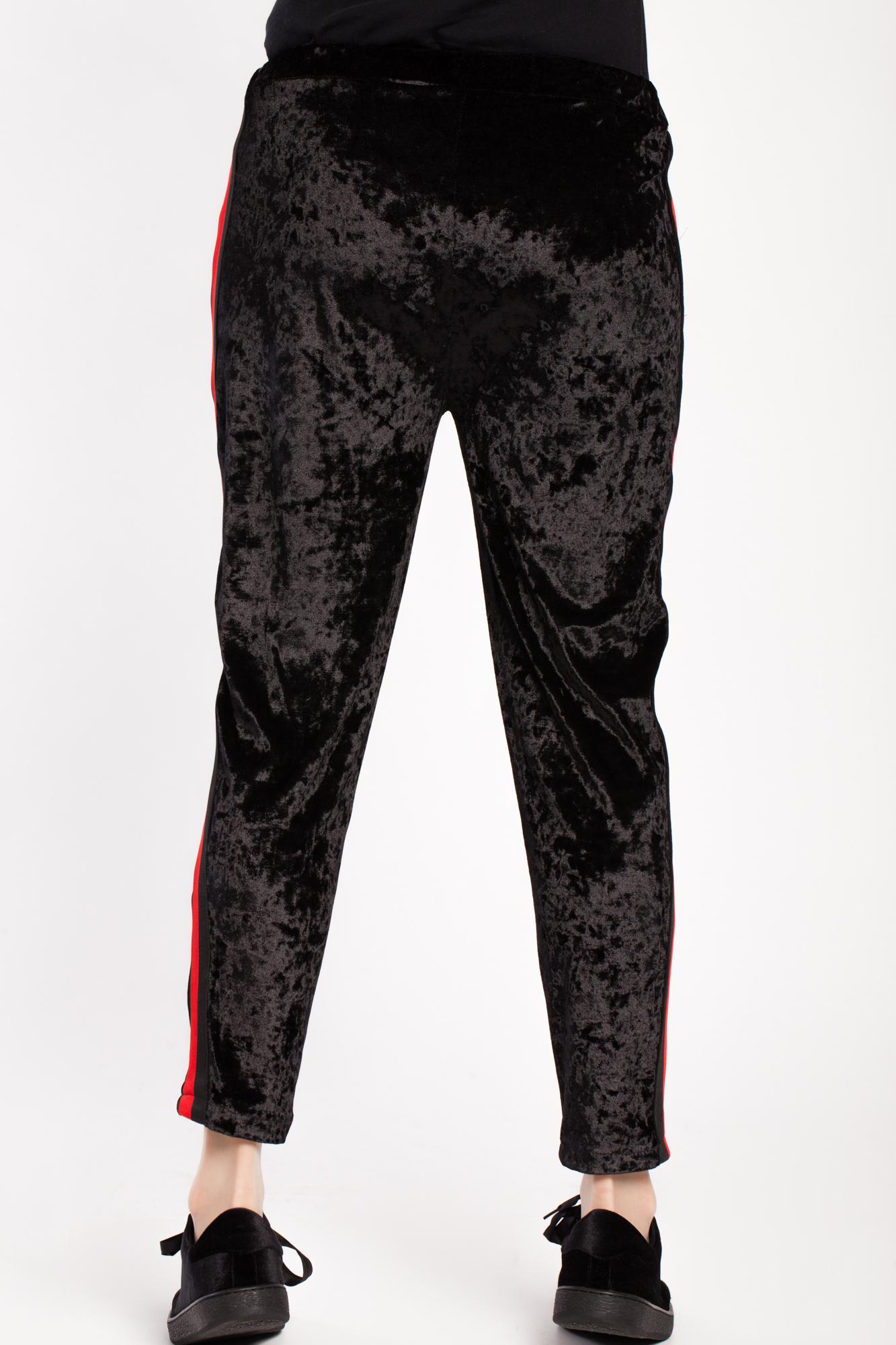 Pantaloni negri din catifea Ping tip creion