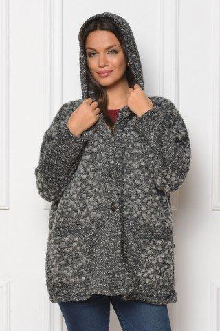 Jacheta gri fluture din lana