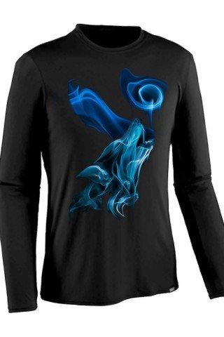 Bluza bumbac blue flame