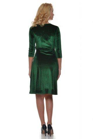 Rochie verde din catifea Eranthe