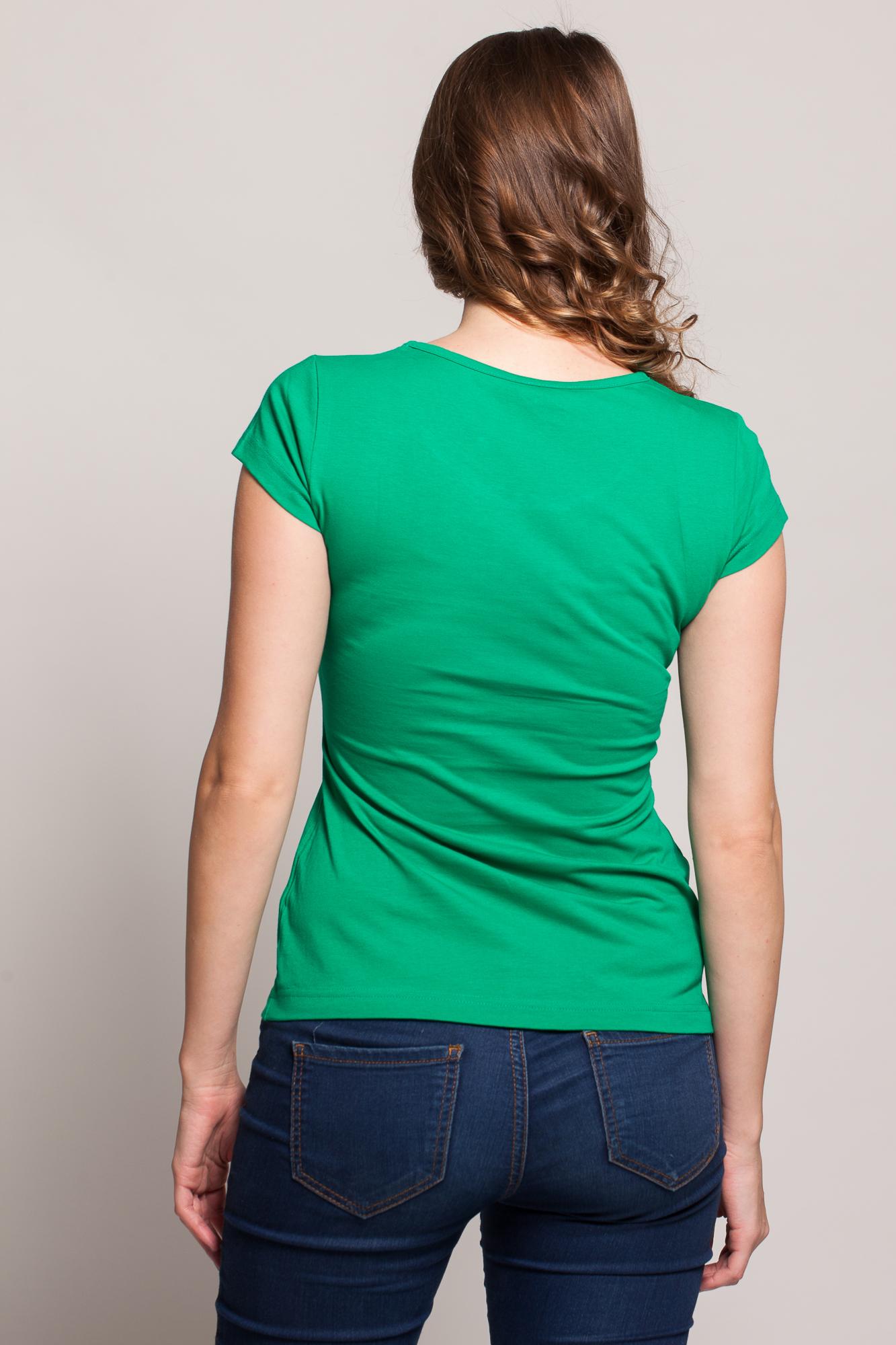Tricou verde HHS pictat manual
