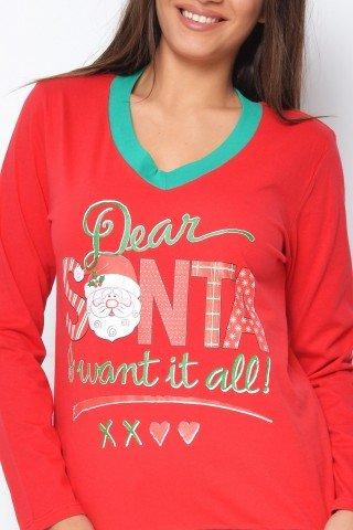 Pijama rosie dear Santa