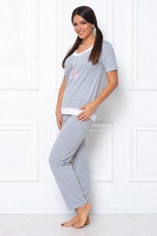 Pijama gri cu imprimeu